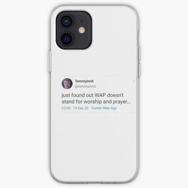 tommyinnit WAP tweet iPhone Soft Case RB2805 product Offical TommyInnit Merch