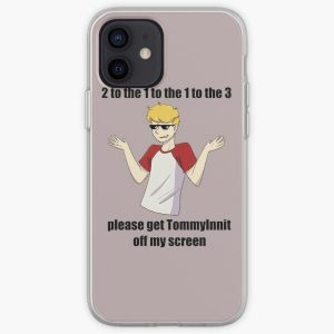 2 to the 1 to the 1 to the 3 please get tommyinnit off my screen iPhone Soft Case RB2805 product Offical TommyInnit Merch