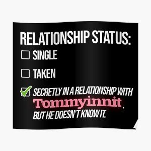 Relationship with Tommyinnit Poster RB2805 product Offical TommyInnit Merch