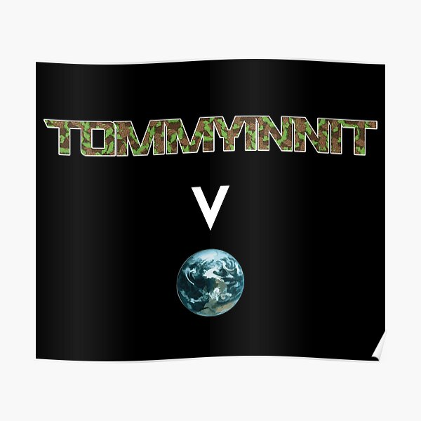 Tommyinnit above the world - Minecraft Poster RB2805 product Offical TommyInnit Merch