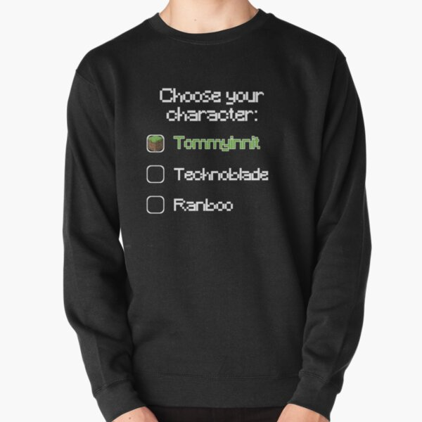 Choose your character - Tommyinnit (3) Pullover Sweatshirt RB2805 product Offical TommyInnit Merch