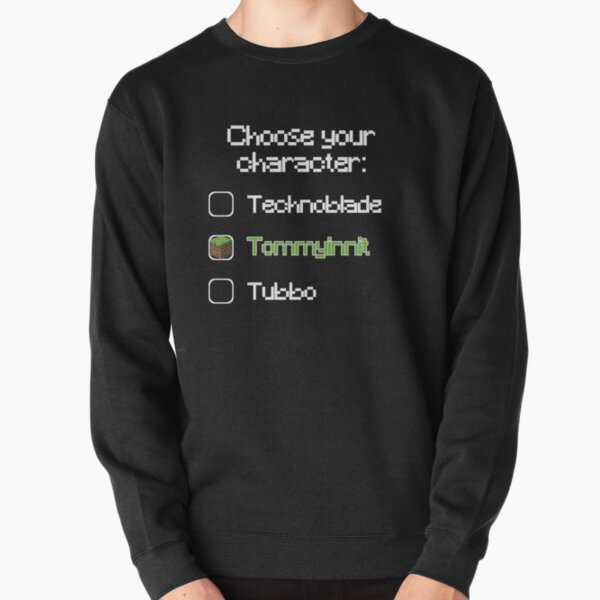Choose your character - Tommyinnit Pullover Sweatshirt RB2805 product Offical TommyInnit Merch