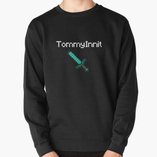 TommyInnit - White Pullover Sweatshirt RB2805 product Offical TommyInnit Merch