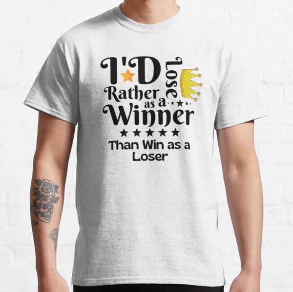 I'd Rather Lose as a Winner Than Win as a Loser - tommyinnit quote Classic T-Shirt RB2805 product Offical TommyInnit Merch