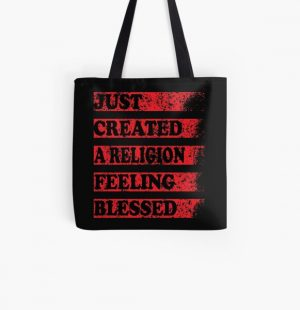 Just Created a Religion Feeling Blessed | Tommyinnit V3 All Over Print Tote Bag RB2805 product Offical TommyInnit Merch