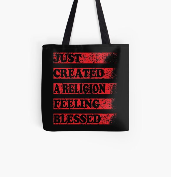 Just Created a Religion Feeling Blessed   Tommyinnit V3 All Over Print Tote Bag RB2805 product Offical TommyInnit Merch