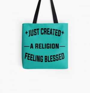 Just Created a Religion Feeling Blessed | Tommyinnit V2 All Over Print Tote Bag RB2805 product Offical TommyInnit Merch
