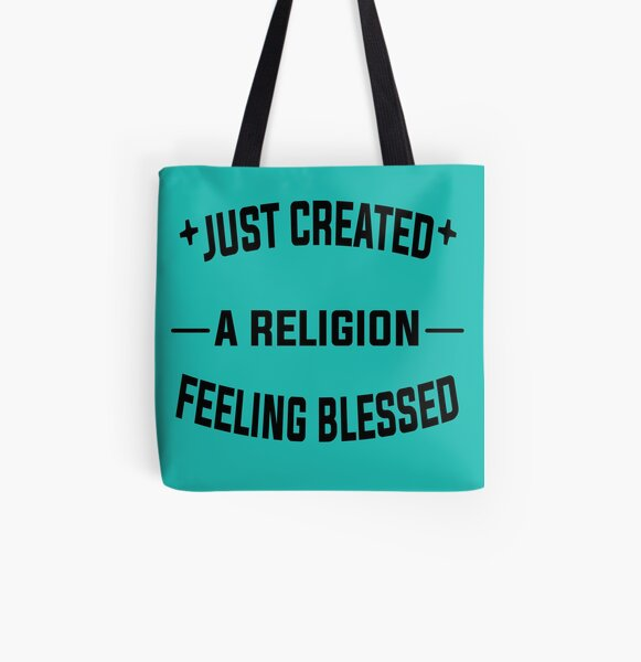 Just Created a Religion Feeling Blessed   Tommyinnit V2 All Over Print Tote Bag RB2805 product Offical TommyInnit Merch