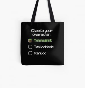 Choose your character - Tommyinnit (3) All Over Print Tote Bag RB2805 product Offical TommyInnit Merch
