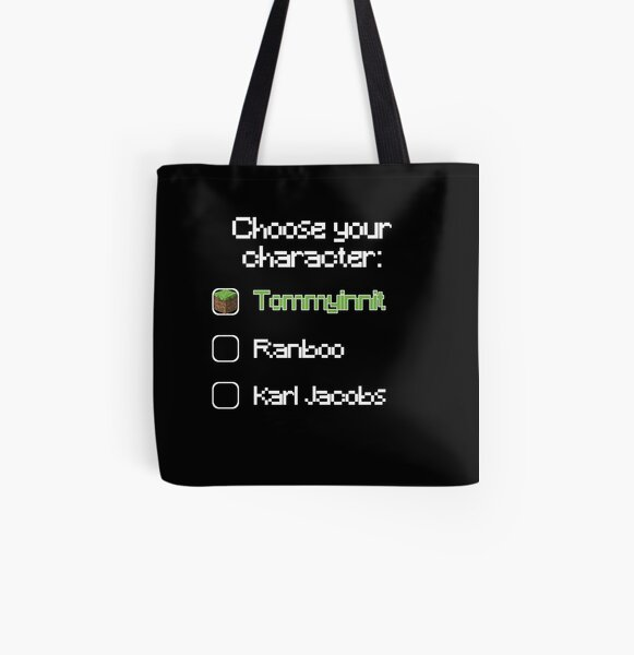 Choose your character - Tommyinnit (2) All Over Print Tote Bag RB2805 product Offical TommyInnit Merch