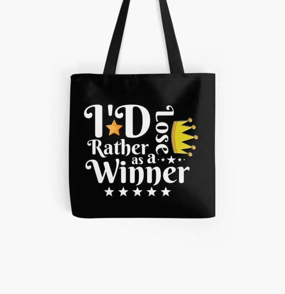 I'd Rather Lose as a Winner Than Win as a Loser - tommyinnit quote All Over Print Tote Bag RB2805 product Offical TommyInnit Merch