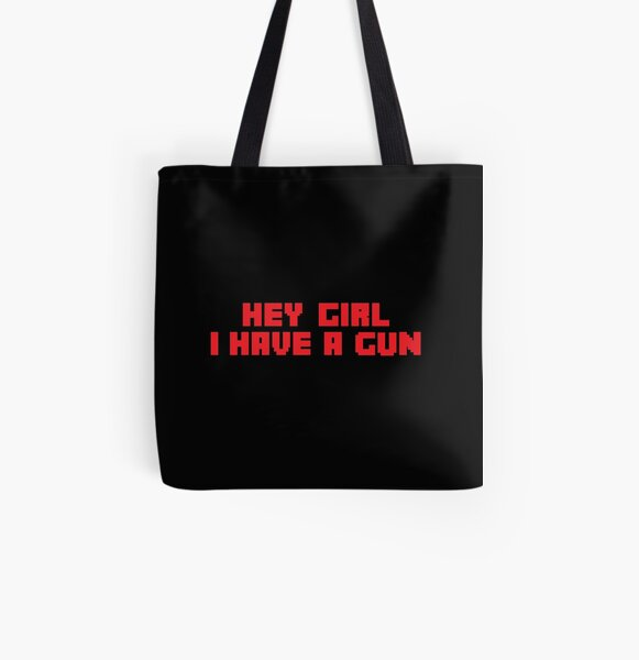 hey girl i have a gun - tommyinnit - Quakity  All Over Print Tote Bag RB2805 product Offical TommyInnit Merch