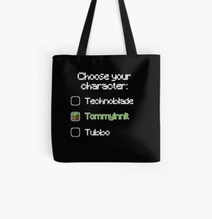 Choose your character - Tommyinnit All Over Print Tote Bag RB2805 product Offical TommyInnit Merch