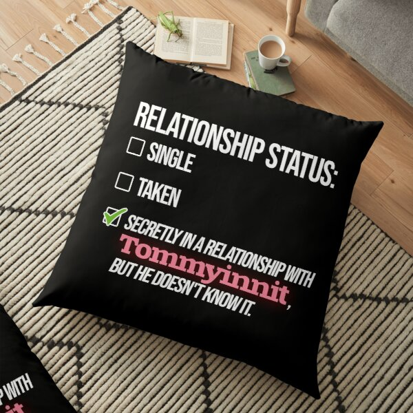 Relationship with Tommyinnit Floor Pillow RB2805 product Offical TommyInnit Merch