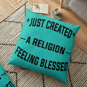 Just Created a Religion Feeling Blessed | Tommyinnit V2 Floor Pillow RB2805 product Offical TommyInnit Merch