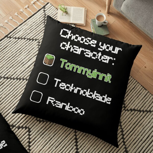 Choose your character - Tommyinnit (3) Floor Pillow RB2805 product Offical TommyInnit Merch