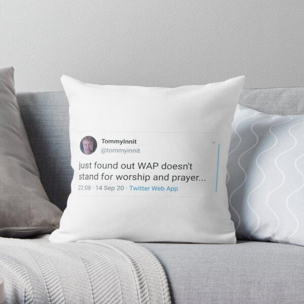 tommyinnit WAP tweet Throw Pillow RB2805 product Offical TommyInnit Merch