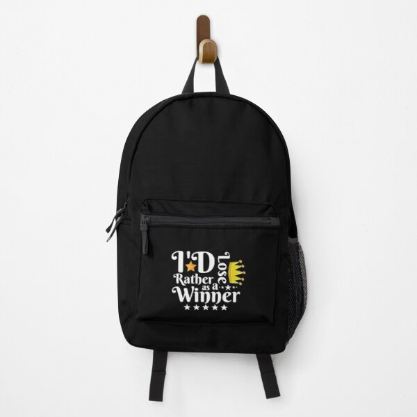 I'd Rather Lose as a Winner Than Win as a Loser - tommyinnit quote Backpack RB2805 product Offical TommyInnit Merch