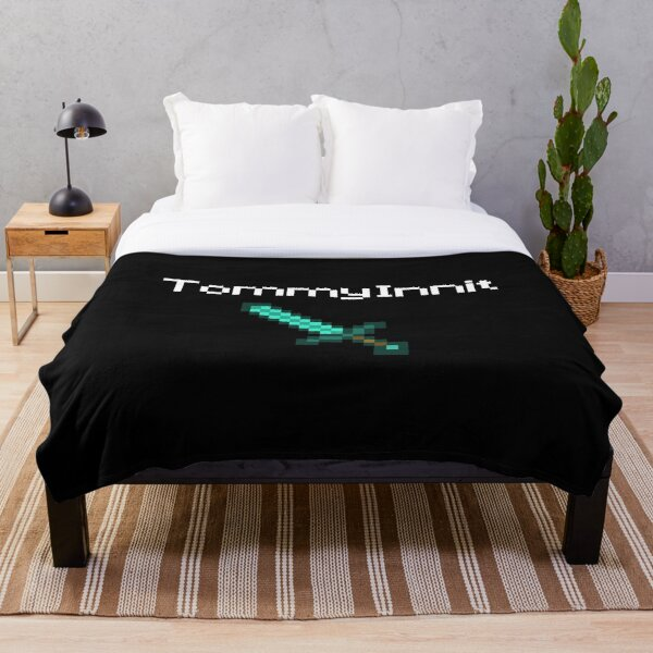 TommyInnit - White Throw Blanket RB2805 product Offical TommyInnit Merch
