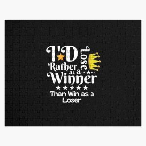 I'd Rather Lose as a Winner Than Win as a Loser - tommyinnit quote Jigsaw Puzzle RB2805 product Offical TommyInnit Merch