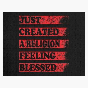 Just Created a Religion Feeling Blessed | Tommyinnit V3 Jigsaw Puzzle RB2805 product Offical TommyInnit Merch