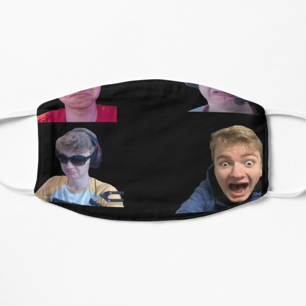 Tommyinnit Faces Dream Team Flat Mask RB2805 product Offical TommyInnit Merch