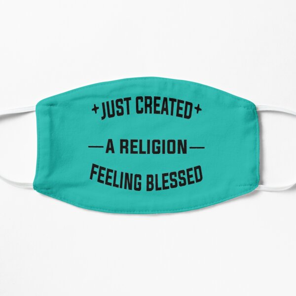 Just Created a Religion Feeling Blessed   Tommyinnit V2 Flat Mask RB2805 product Offical TommyInnit Merch