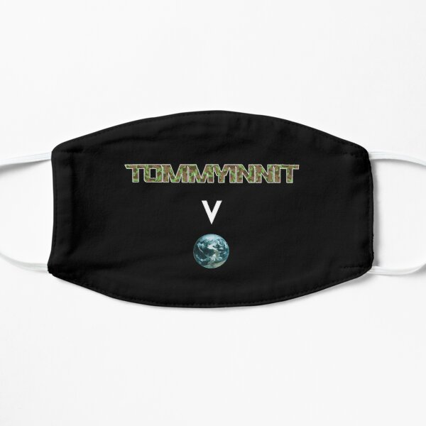 Tommyinnit above the world - Minecraft Flat Mask RB2805 product Offical TommyInnit Merch