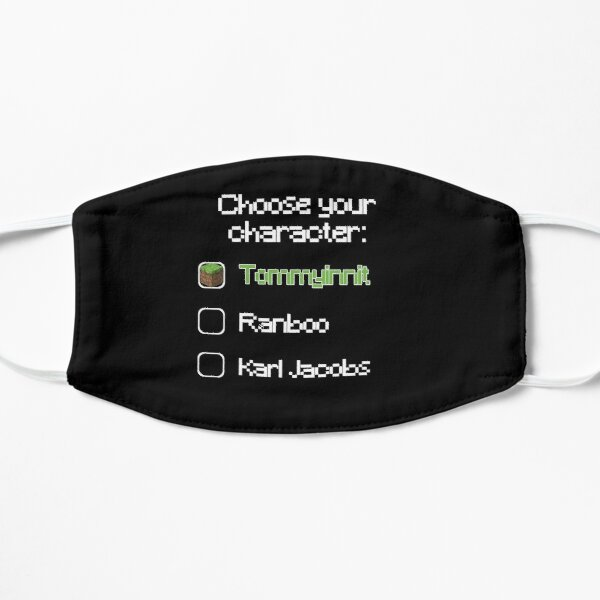 Choose your character - Tommyinnit (2) Flat Mask RB2805 product Offical TommyInnit Merch