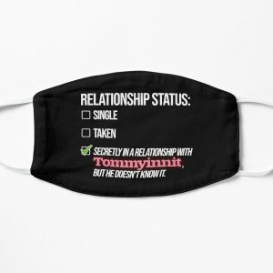 Relationship with Tommyinnit Flat Mask RB2805 product Offical TommyInnit Merch
