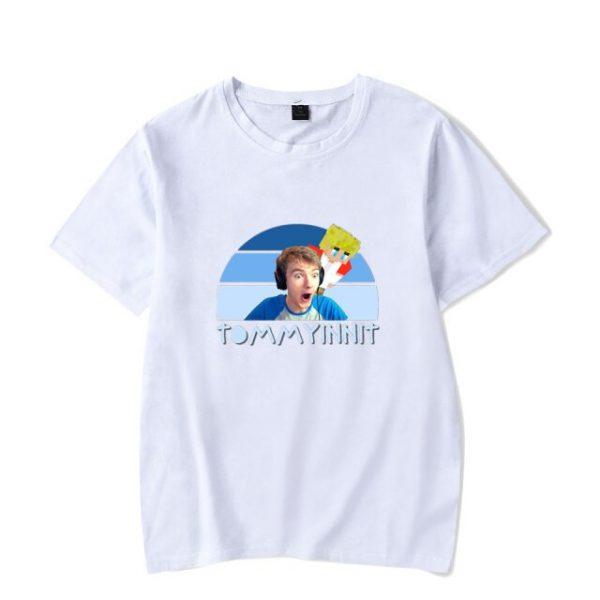 2021 Tommyinnit Short sleeved T shirt Harajuku Printed Logo Hot Red Net Game Blogger Summer Round 14.jpg 640x640 14 - TommyInnit Shop