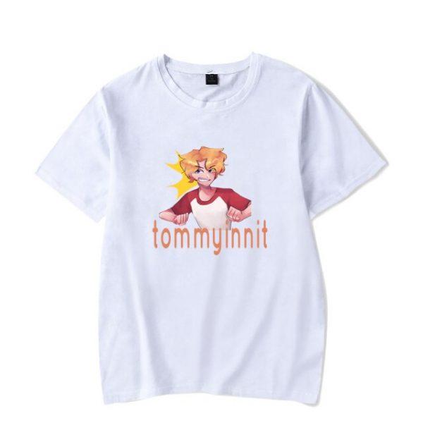 2021 Tommyinnit Short sleeved T shirt Harajuku Printed Logo Hot Red Net Game Blogger Summer Round 16.jpg 640x640 16 - TommyInnit Shop